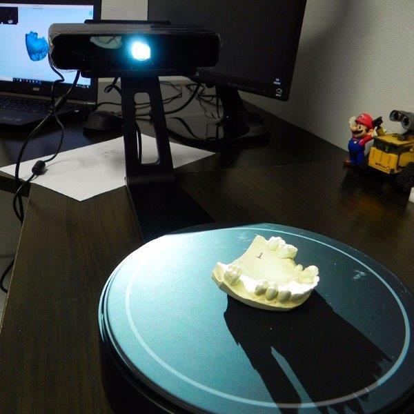 Scanner 3d de mesa