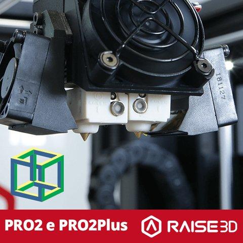 RAISE 3D - PRO2 - Impressora 3D Profissional De Grandes Formatos Com Elevação Dos Extrusores