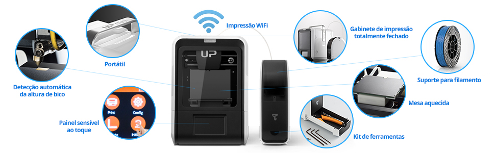 Impressora 3D - UP Mini 2 ES